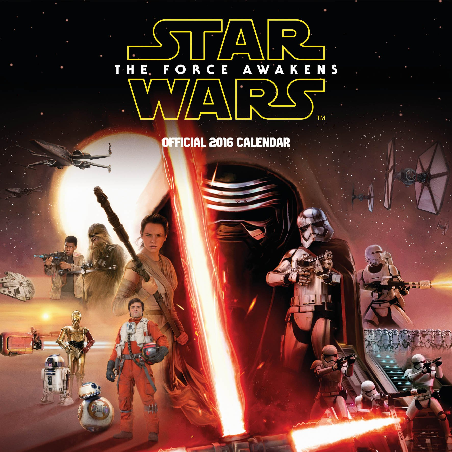 The Official Star Wars Episode 7 Movie 2016 Square Calendar (Calendar 2016) Calendario – 4 sep 2015 Danilo Danilo Promotions Limited 1780548656 Film