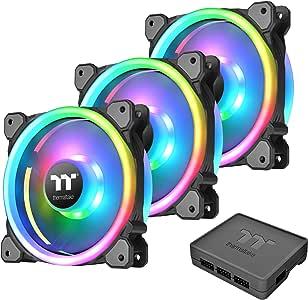 Thermaltake Riing Trio 12 LED RGB - Pack de 3 Ventiladores para PC, Color Negro: Thermaltak: Amazon.es: Informática