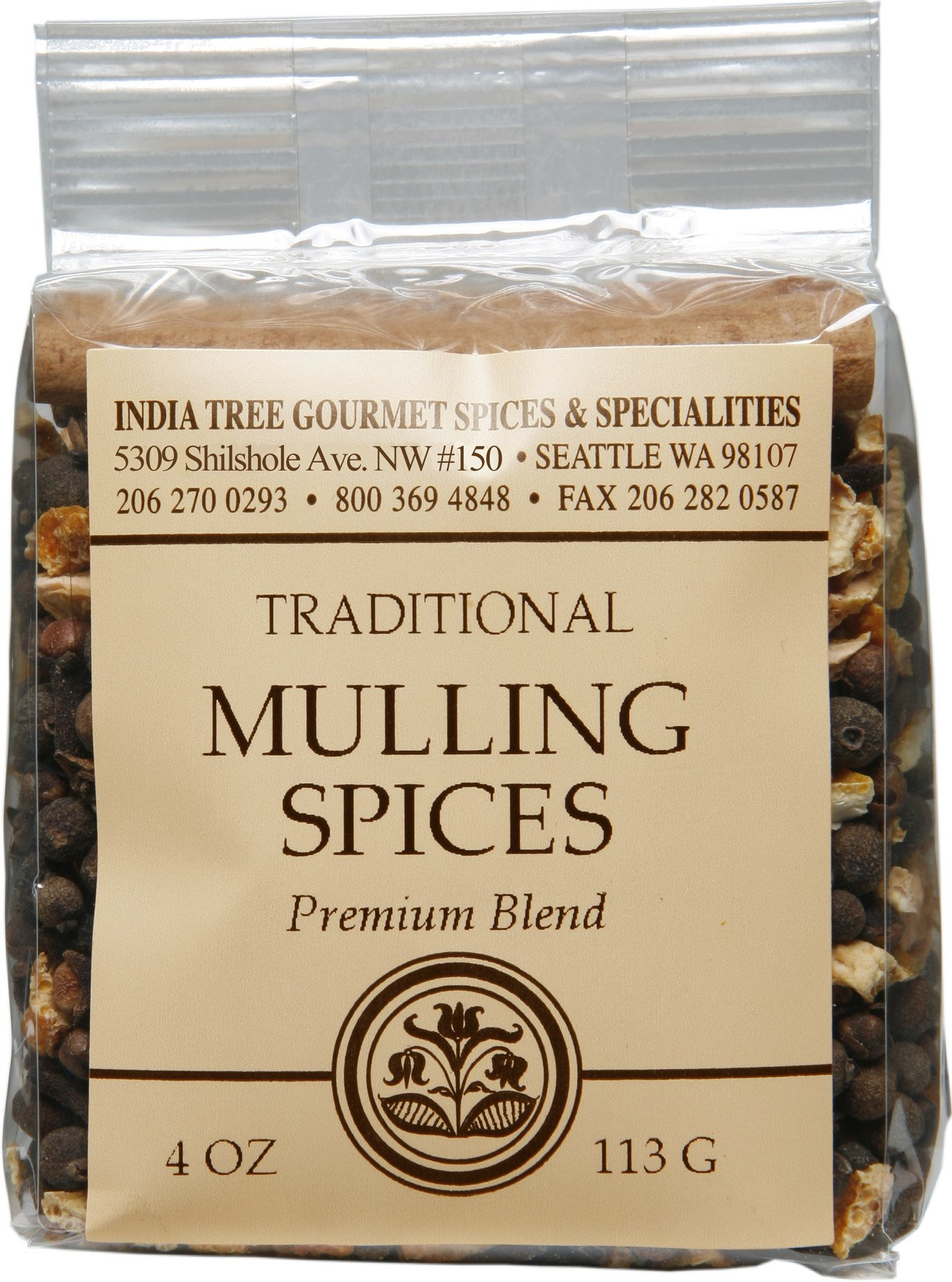India Tree Mulling Spice , 4 oz (Pack of 4)