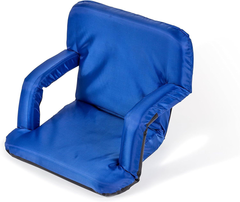 Trademark Innovations Portable Multiuse Adjustable Recliner Stadium Seat Blue
