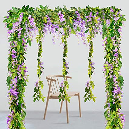 Latest Collection Of Artificial Flowers Velvety Rose Garland Wall Hanging Silk Flowers Rattan Hanging Ivy Plants For Wedding Party Garden Decoration Home & Garden