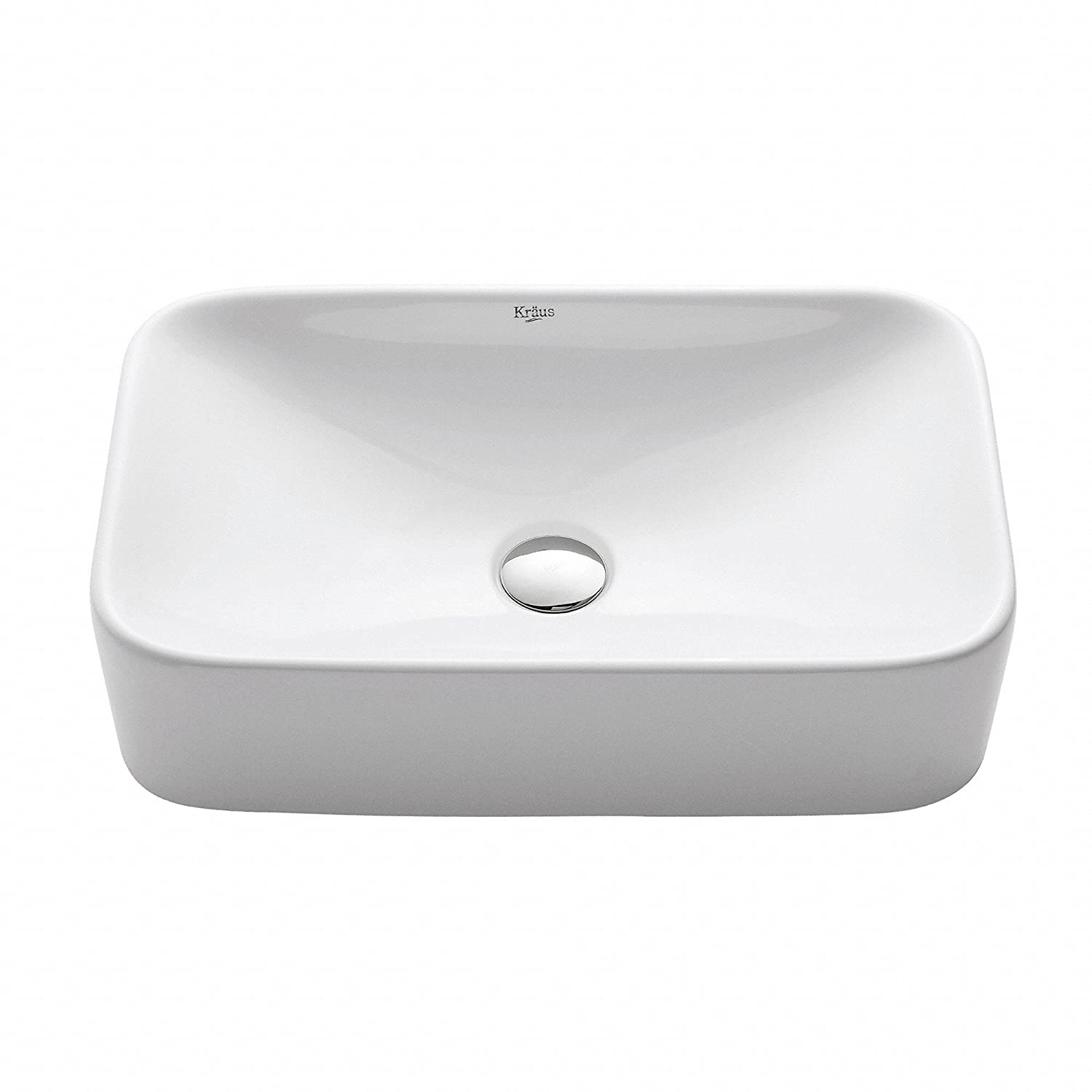 Bathroom available in 5 finishes vessel bathroom sinks msrp 425 - Kraus Kcv 122 White Rectangular Ceramic Bathroom Sink Vessel Sinks Amazon Com