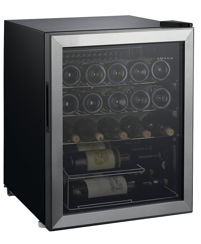 Amana AMAW25S2MS 2.7 cu. Ft. 25 Bottle Wine Cooler w/ Stainless Steel Door, Adjustable Wire Shelves