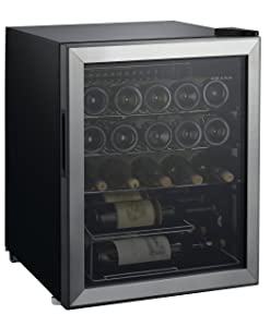 Amana AMAW25S2MS 2.7 cu. Ft. 25 Bottle Wine Cooler w/ Stainless Steel Door, Adjustable Wire Shelves