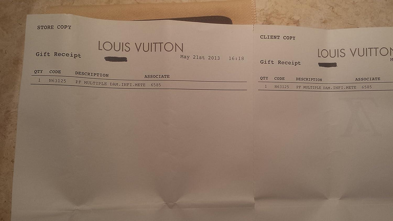 Amazon.com  Authentic Louis Vuitton LV Damier Graphite Canvas Multiple  Wallet Black Grey  Everything Else 39a3ca76dc0e4