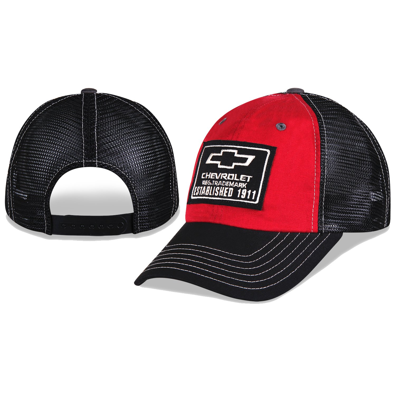 78a1339d387 Chevy Est. 1911 Red and Black Mesh Hat  Amazon.co.uk  Car   Motorbike