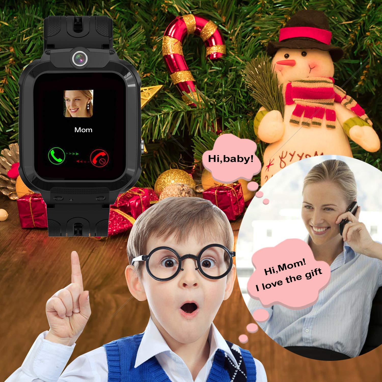Vannico Kids Smartwatch f/ür Jungen M/ädchen Kinder Smartwatch mit SIM SOS Anruf Hellrosa Smartwatch Kinder Wasserdicht Telefon Uhr