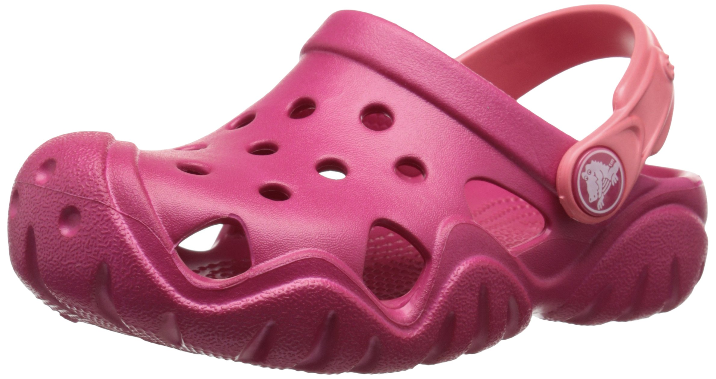 Crocs Kids' Swiftwater K Clog (Toddler/Little Kid), Raspberry/Coral, 10 M US Toddler