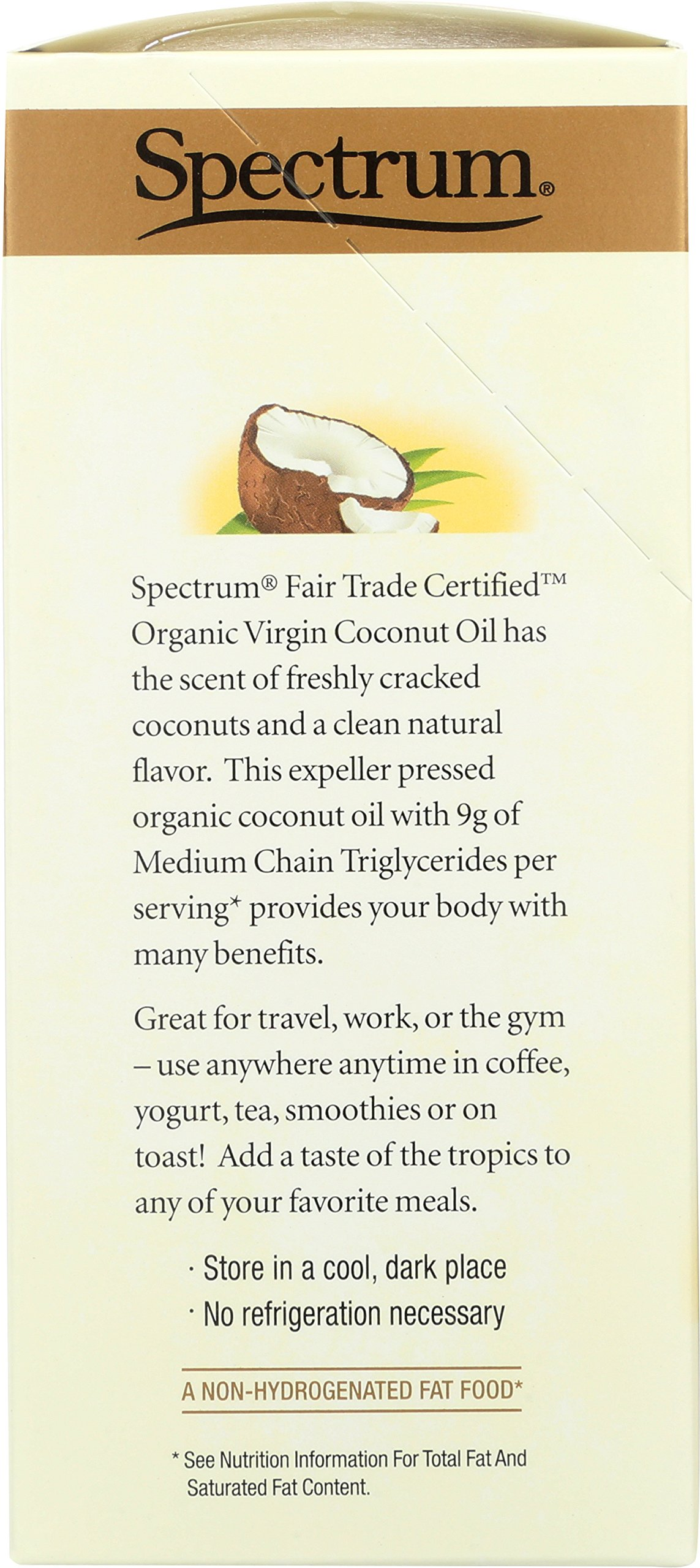 Spectrum Naturals Organic Unrefined Virgin Coconut Oil Packets, 10 Count (Pack of 3) by Spectrum (Image #2)
