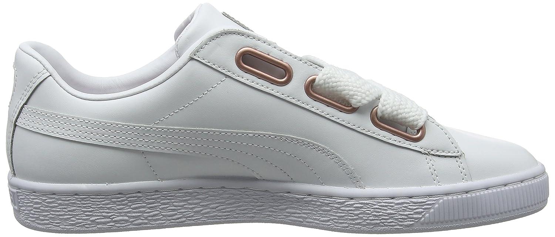 Puma Damen Sneaker, Basket Heart Leder WN's Sneaker, Damen Weiß (Puma Weiß-rose Gold 01) 7f1b14