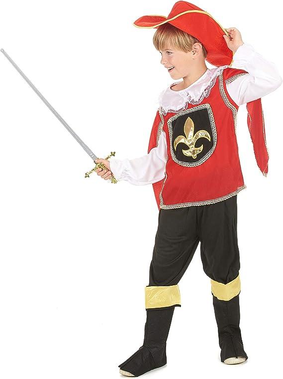 Vegaoo - Disfraz Mosquetero Rojo niño - M 7-9 años (120-130 cm ...