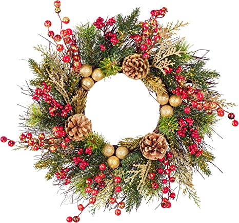 Home Decor Front Door Wreath Outside Wreath Wreath Christmas Wreath Evergreen Wreath Swag Hostess Gift Christmas Door Decoration