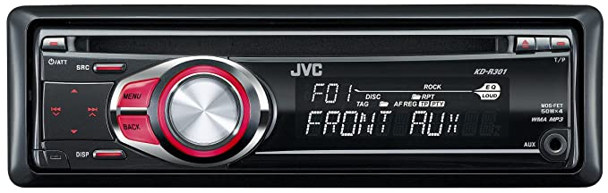 jvc kd r301 cd mp3 wma car stereo with front aux input red rh amazon co uk  Pioneer Mosfet 50Wx4 Wiring-Diagram
