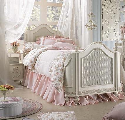 Amazon.com   Lea Emmau0027s Treasures 2 Piece Mansion Kidsu0027 Bedroom Set In  Vintage White   Bedroom Furniture Sets