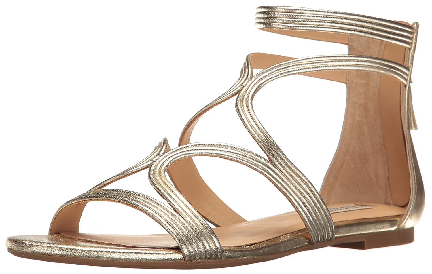 Badgley Mischka Women's Torrence Dress Sandal B01MA35QGX 8 B(M) US|Platino