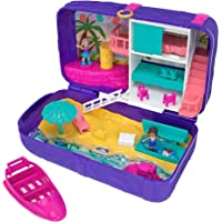 Polly Pocket Cofanetto Zainetto dell'Estate, Playset con 2 Bambole, Un Micro Veicolo e Tanti Accessori, FRY40