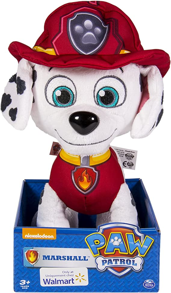 Amazon Com Paw Patrol 9 Plush Marshall Toys Games