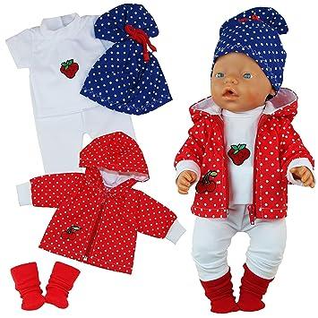 Set Puppenkleidung Pullover Hose Mütze Passend für Baby Born Babypuppen & Zubehör 3 tlg