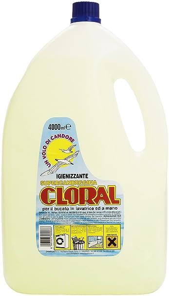 cloral - Desinfectante, supercandeggina, para la colada (Lavadora ...