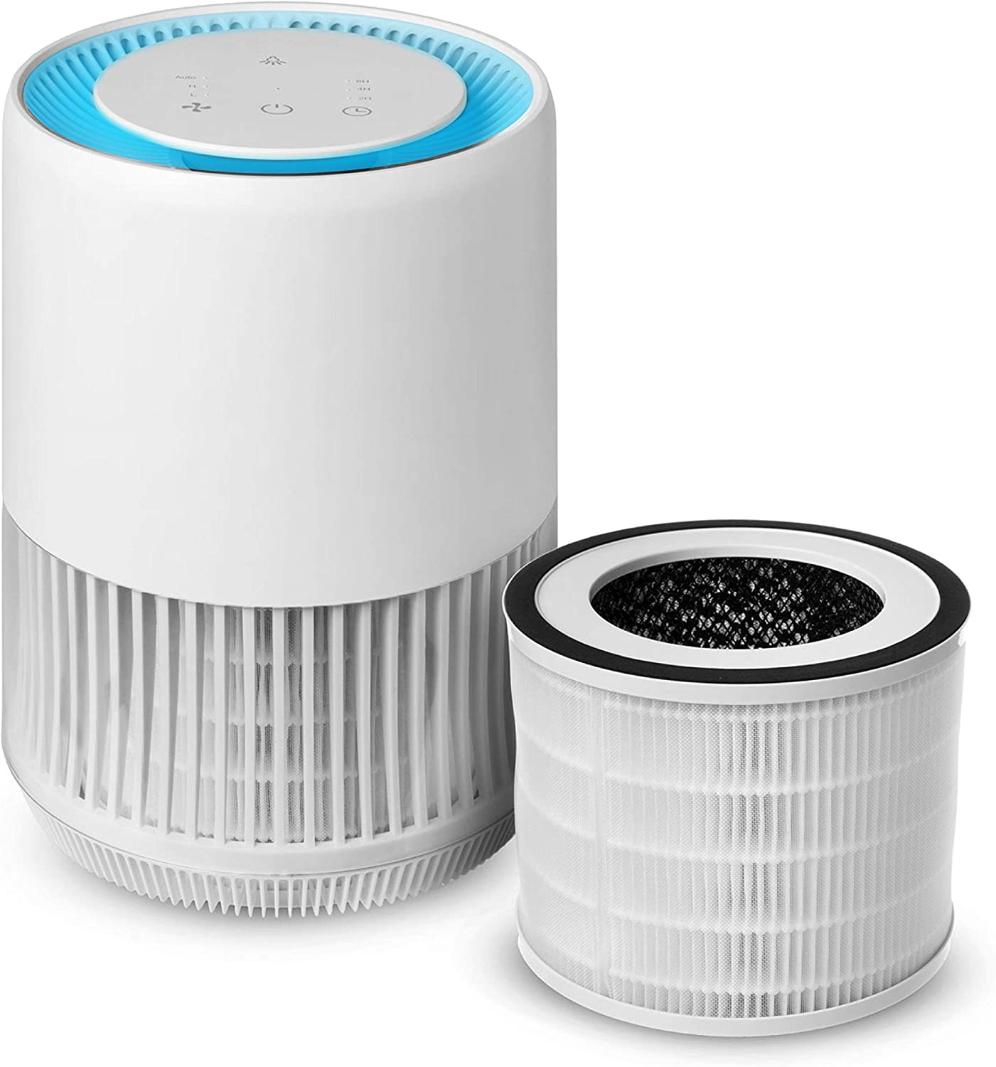 Compass Home Air Purifier - H13 True HEPA Filter 3-Stage Air Filtration with Auto Air Sensor Small Room Air Purifier