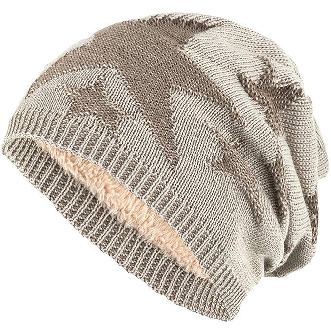 Compagno beanie caldo berretto sportivo ed elegante modello di stella  foderato invernale e5375be0d615