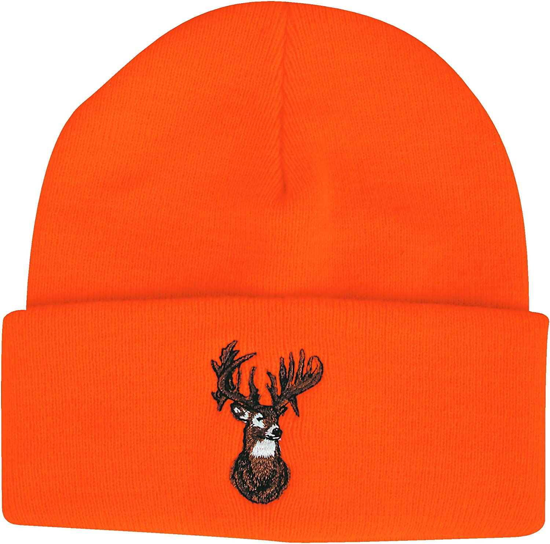 Outdoor Cap Beanie Blaze with Deer Orange: Clothing