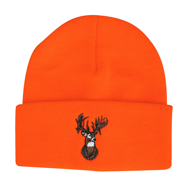 698c648d9ca Amazon.com  Outdoor Cap Beanie Blaze with Deer Orange  Sports   Outdoors