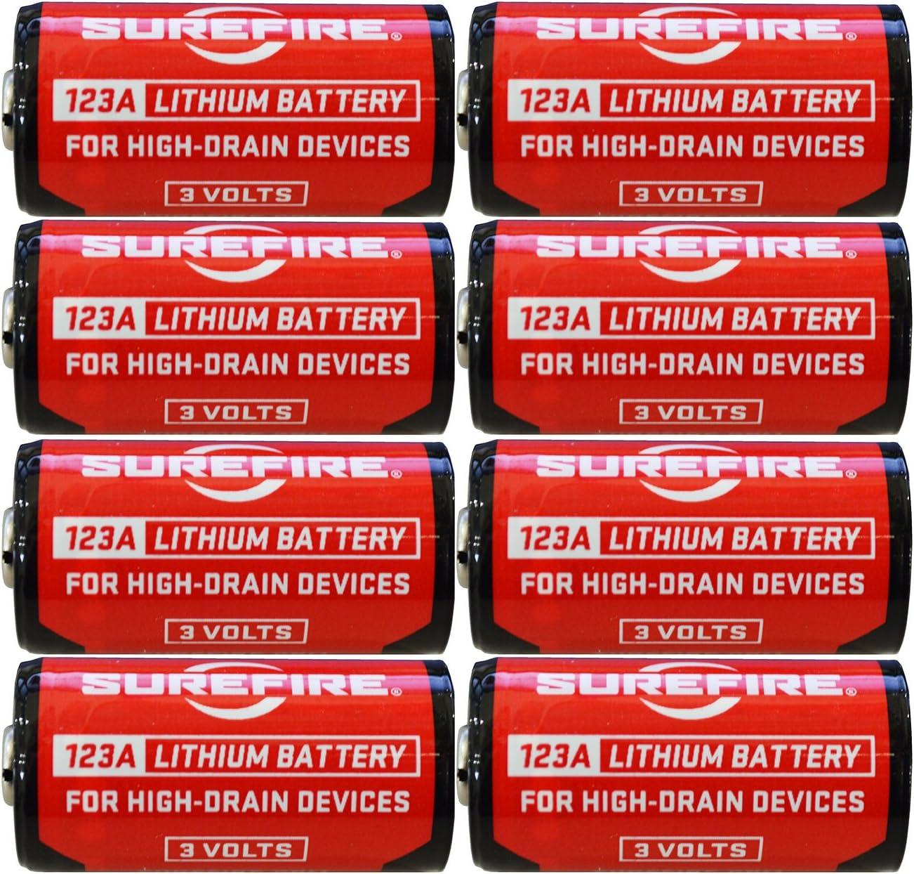 Surefire SF123A 123A 3-Volt Lithium Batteries 8 Pack EXP in Feb 2029