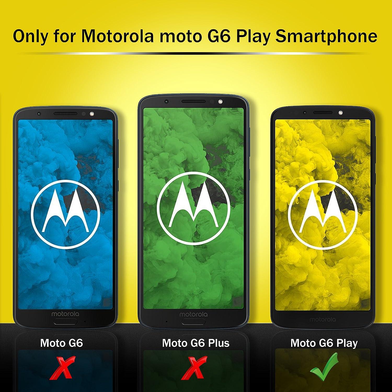 iBetter Funda Moto G6 Play, Flip Cover Carcasa PU Silicio ...