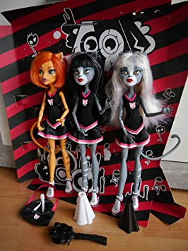 Monster High - Pack 3 Fearleading Exclusivas: Amazon.es: Juguetes ...