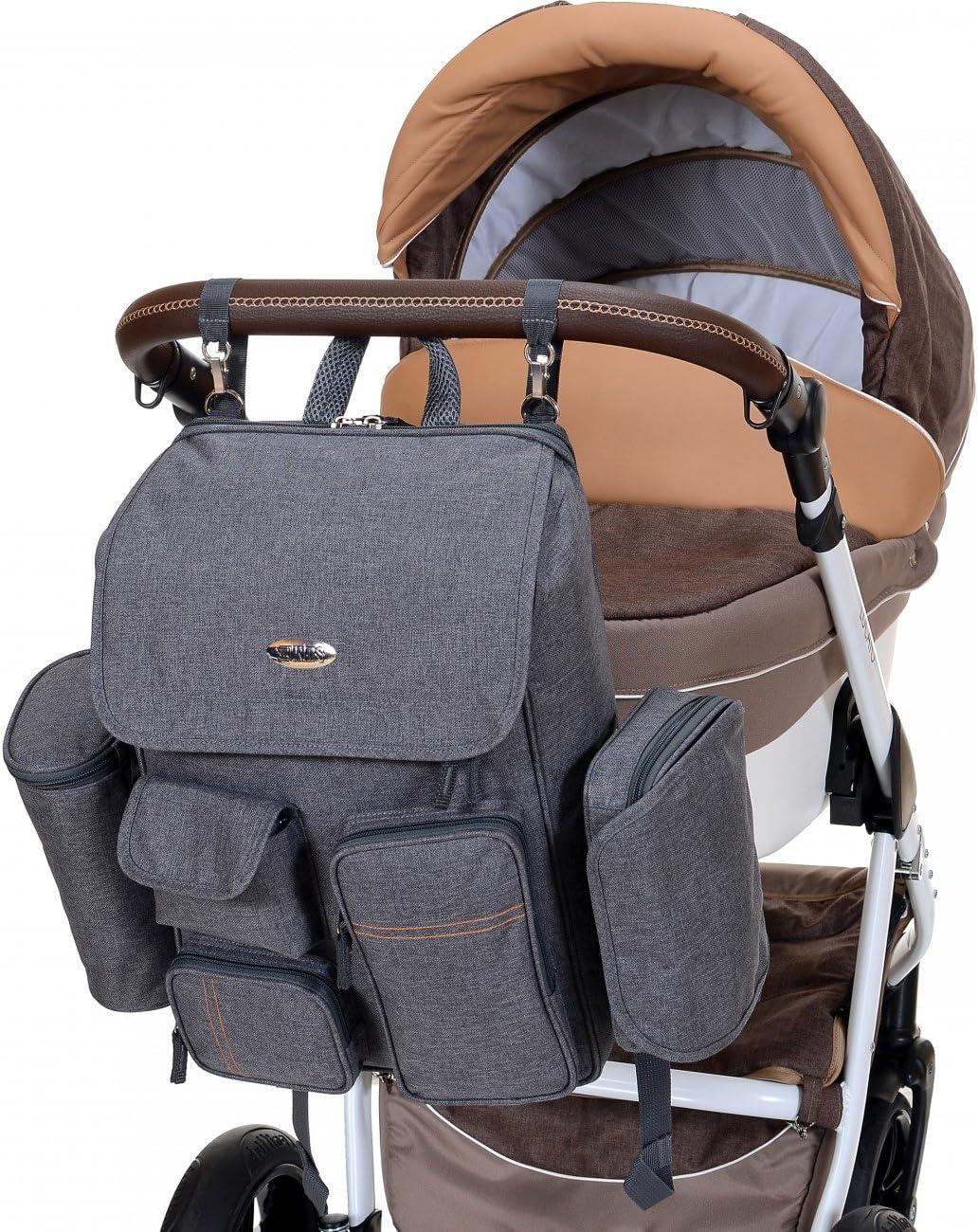Sac de maternit/é /étanche multifonctionnel LCP Kids Sac /à langer /à dos