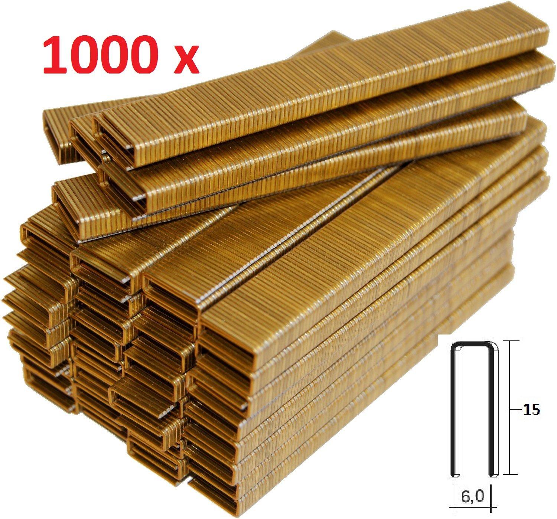 1000 AGRAFES 6 MM X 15 MM POUR AGRAFEUSE É LECTRIQUE PARKSIDE FAITES EN ALLEMAGNE ENVIORAPIDO