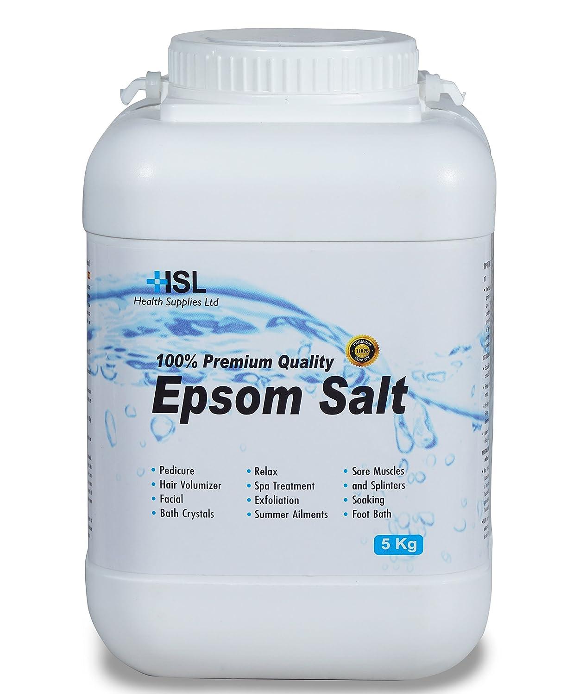 Epsom Salts 5 kg (Magnesium Sulphate Salt) Bath Salt Health supplies limited