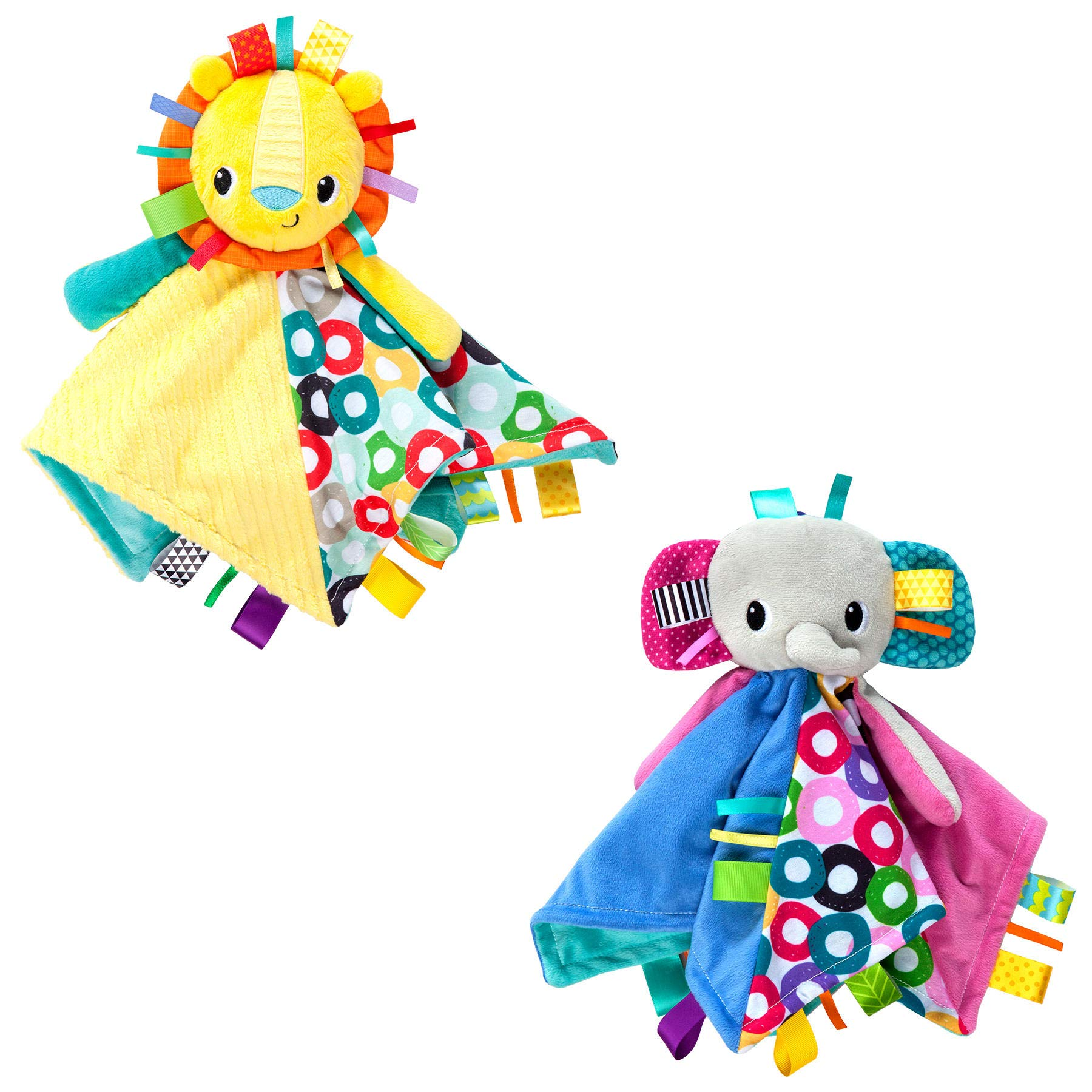 Bright Starts Cuddle Tags Blankie -Lion