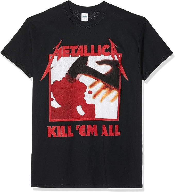 Camiseta Rockera Metallica color negro