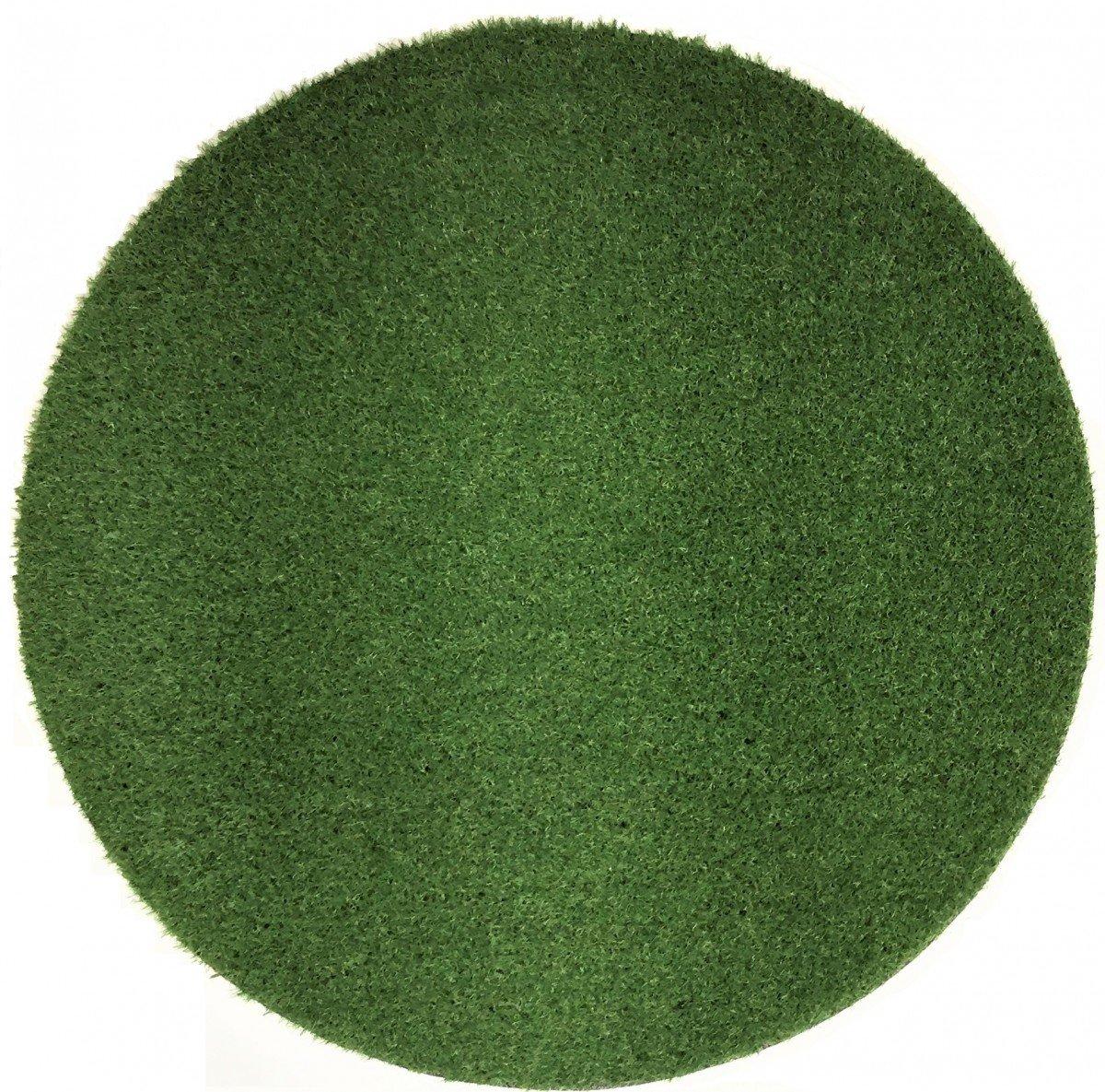 Premium Kunstrasen Madeira 32 mm (2.250 g m²) rund   Rasenteppich in Echtrasenoptik   strapazierfähig, wasserdurchlässig   perfekt für Garten, Balkon, Terrasse, Camping, Farbe Grün, Größe 200