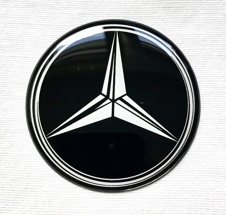 Rad Mitte Aufkleber 4 x 56mm MercedesBenz Logo f/ür Radkappen Embleme Mittelkappen MB Silikon