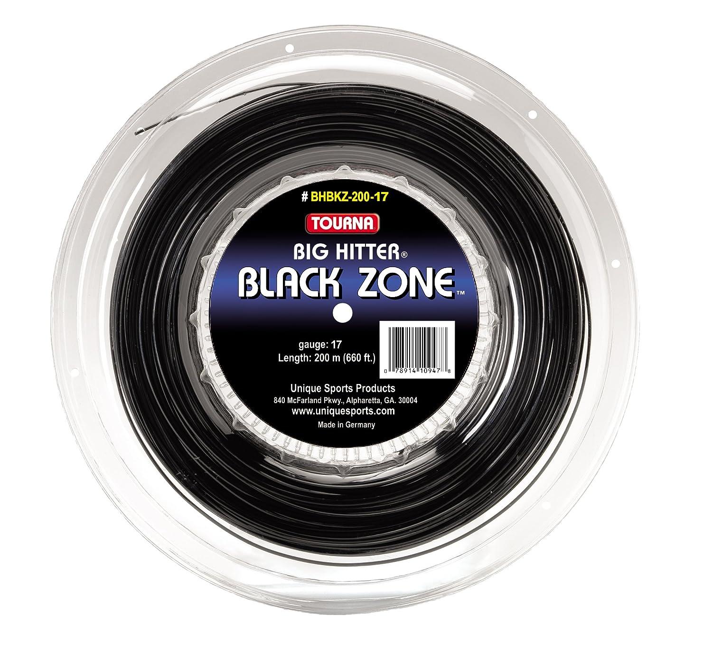 Tourna Big Hitter Racket String, 16gm Reel, Black Zone Unique Sports Products Inc BHBKZ-200-16