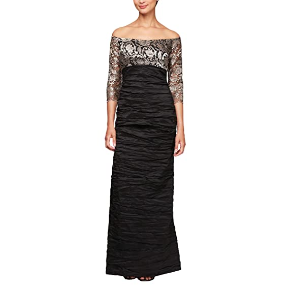 feabc1c8eb8f Alex Evenings Women's Long Off The Shoulder Empire Waist Special Occasion  Dress: Amazon.co.uk: Clothing