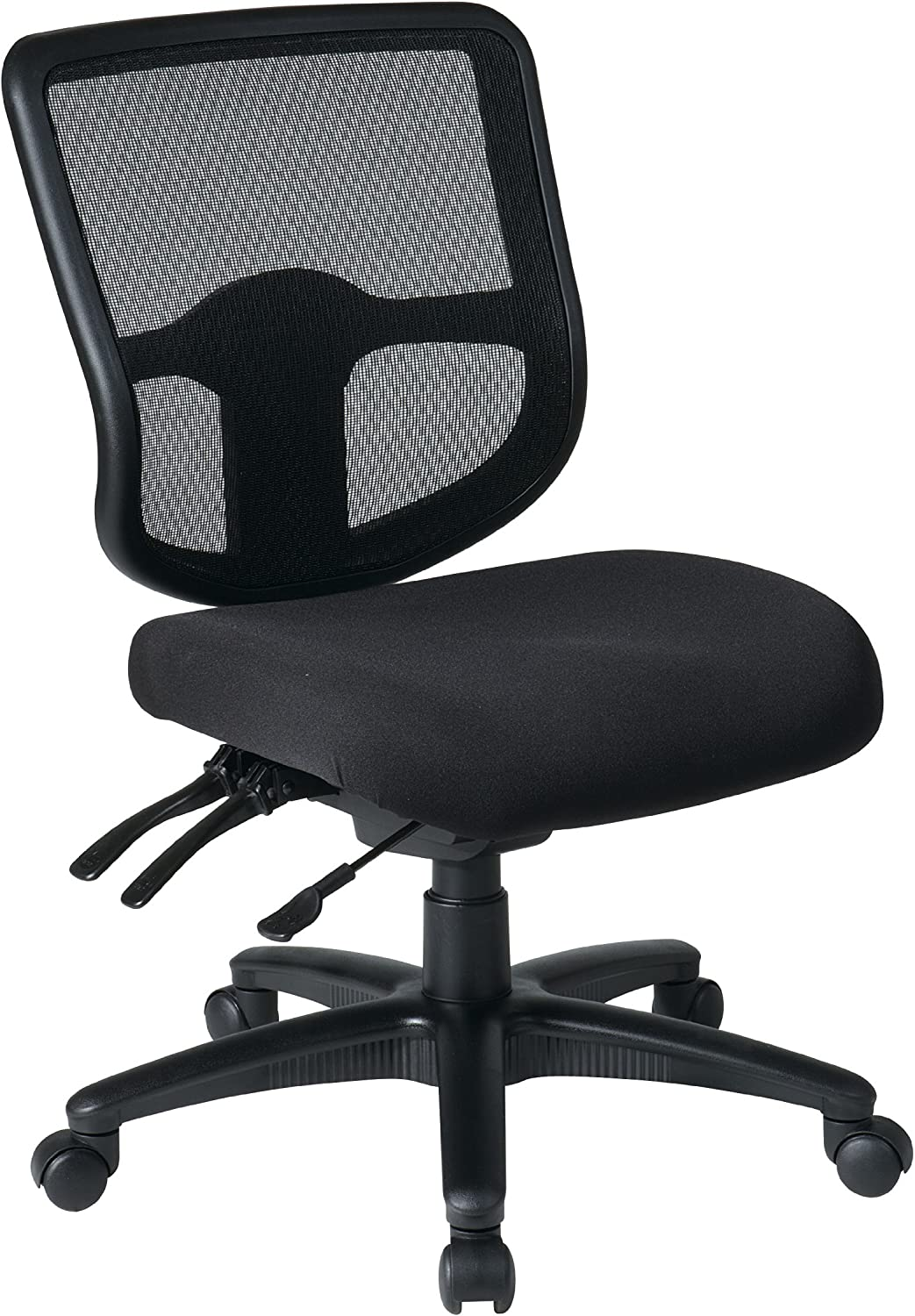 Office Star Ergonomic Task Chair with ProGrid Back and Ratchet Back Height Adjustment without Arms