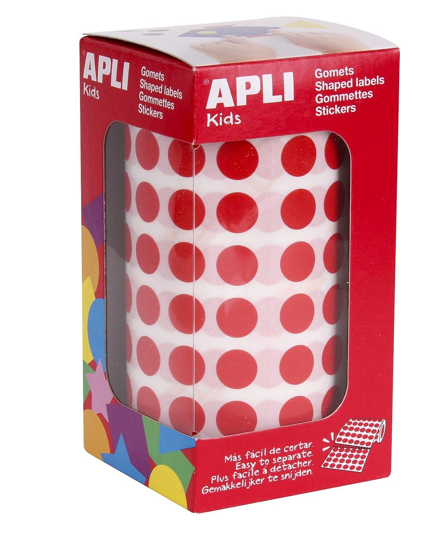 color amarillo Rollo de gomets triangulares 10,5 mm APLI Kids
