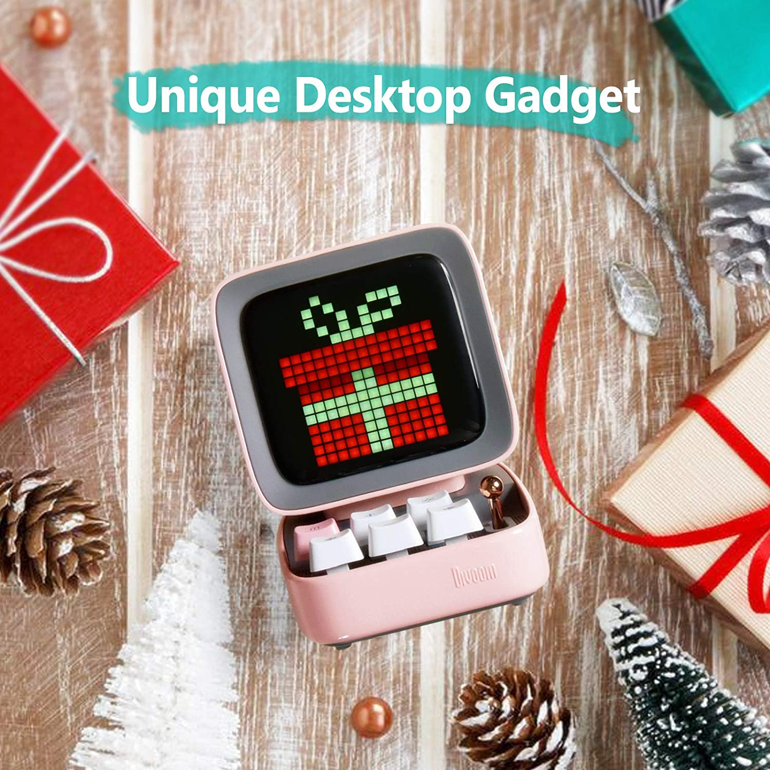 /… Blue Divoom Ditoo Retro Pixel Art Game Bluetooth Speaker with 16X16 LED App Controlled Front Screen