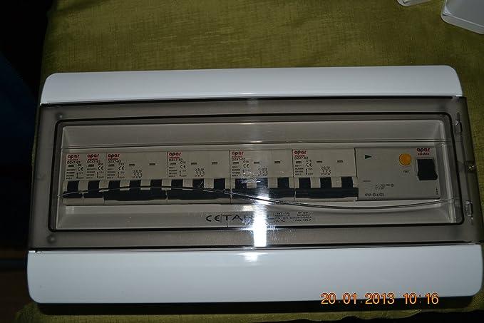 3 phase distribution board consumer unit 63ARCD + 4x3 Pole MCB ...