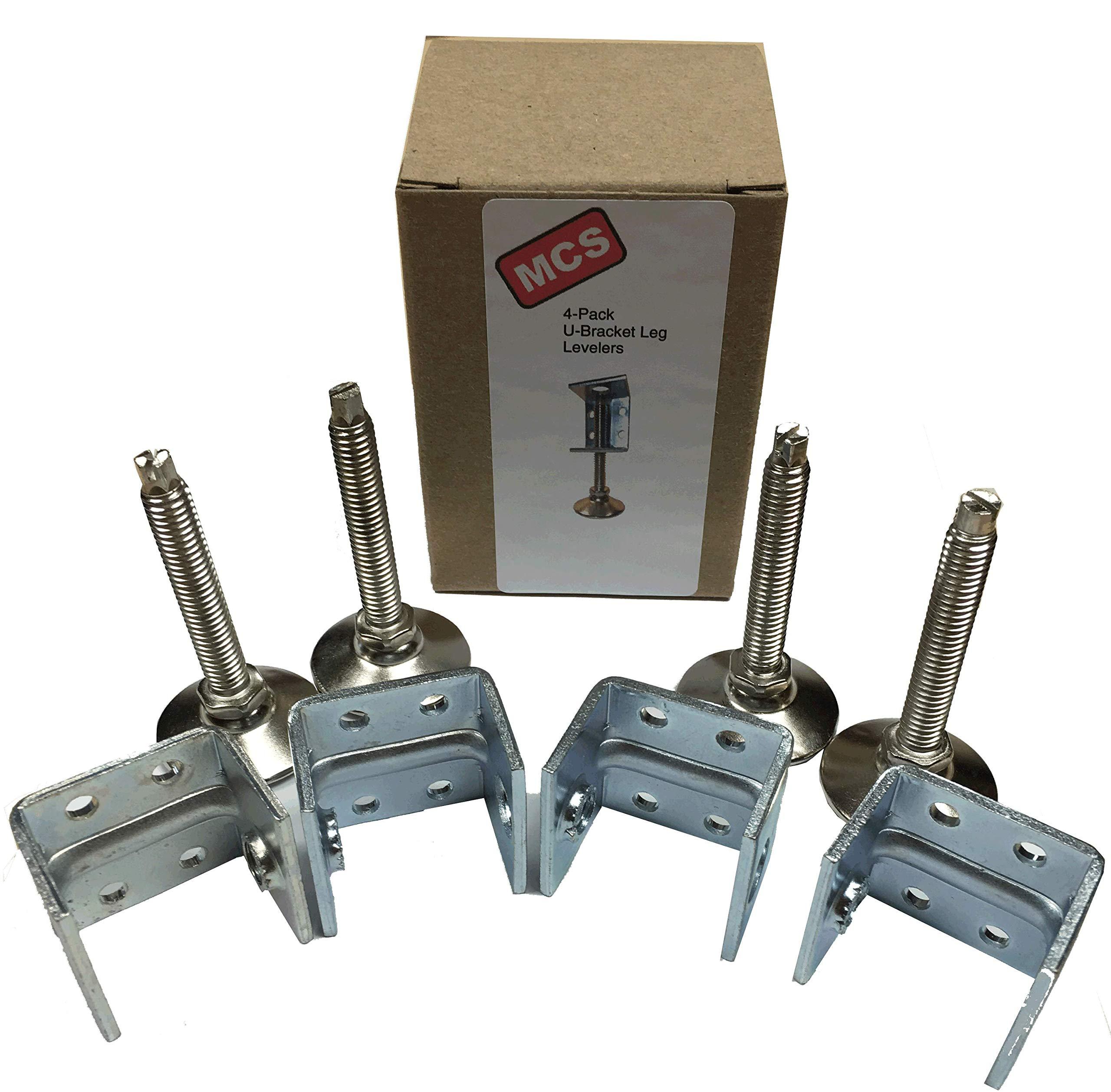Adjustable Leveler with U-bracket (Set of 4)