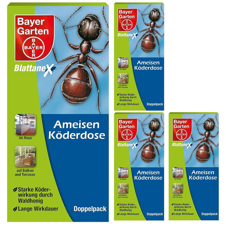 Bayer Blattanex Ameisen-Köderdose wirkt bis ins Nest Ameisenmittel, 4 x 2 Stück 4 x 2 Stück Bayer Garten