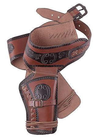 c293832430a Holster Western de Cuir Ceinture Revolver Revolver avec deux Étui Cowboy Western  Ceinture pistolet