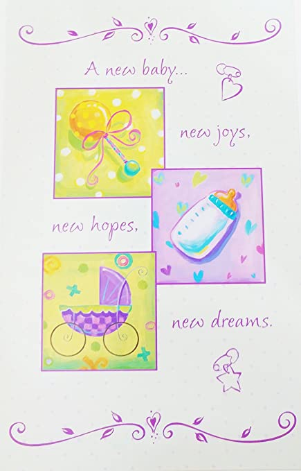 Amazon a new baby new joys new hopes new dreams greeting a new baby new joys new hopes new dreams greeting card congratulations m4hsunfo