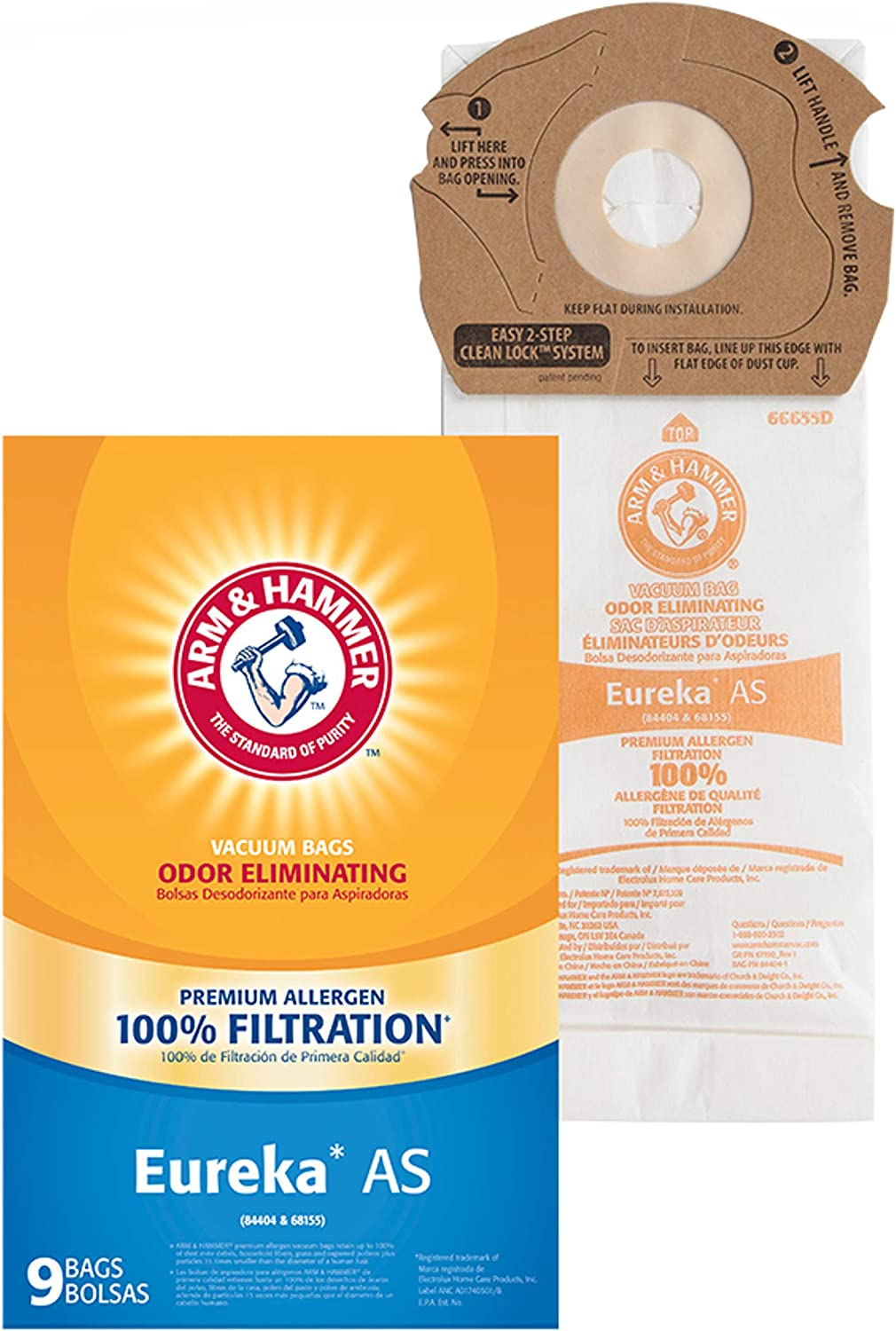 Arm /& Hammer Eureka Style AS Premium Allergen Pkg Vacuum Bag