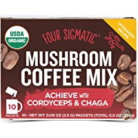 FOUR SIGMATIC Mushroom Coffee Cordyceps and Chaga (10 Packets), 2.5g