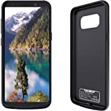 Galaxy S8 Battery Case, BIYOUSUO Charger Case 5000 mAh Extended Backup Battery Juice Pack Rechargeable Charging Case Power Bank Cover for Samsung Galaxy S8 5.8 inch(Black)